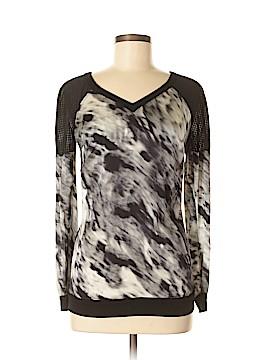 Blanc Noir Long Sleeve Silk Top Size XS