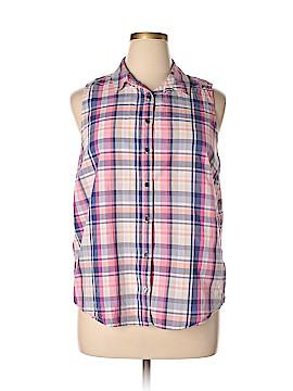 G.H. Bass & Co. Sleeveless Button-Down Shirt Size XL