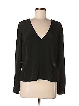 10 Crosby Derek Lam Intermix Long Sleeve Silk Top Size 2