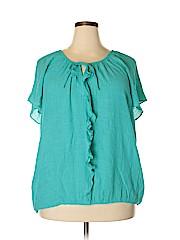 St. John's Bay Women Short Sleeve Blouse Size 3X (Plus)