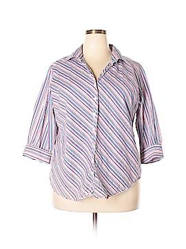 Bay Studio 3/4 Sleeve Button-Down Shirt Size 1X (Plus)
