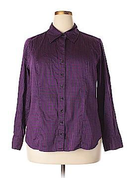 Lane Bryant Outlet Long Sleeve Button-Down Shirt Size 18 - 20 Plus (Plus)