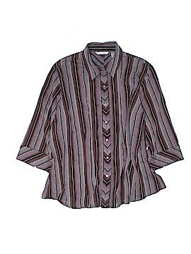 Quizz Woman 3/4 Sleeve Button-Down Shirt Size 18 - 20 (Plus)