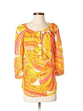Banana Republic Trina Turk Collection Long Sleeve Button-Down Shirt Size 4
