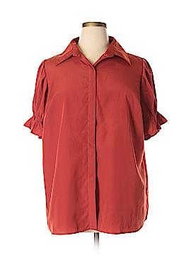Roaman's Short Sleeve Blouse Size 20 (Plus)