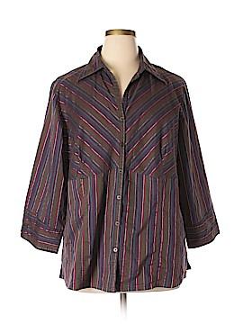 Millenium Long Sleeve Button-Down Shirt Size 16