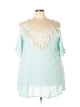 Velzera Short Sleeve Blouse Size 3XL (Plus)
