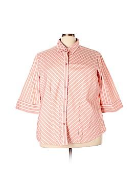 DCC 3/4 Sleeve Button-Down Shirt Size 3X (Plus)