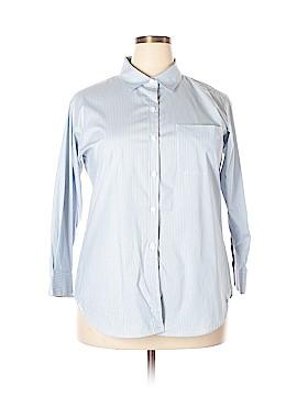 CAbi Long Sleeve Button-Down Shirt Size XL