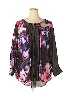 Melissa Masse 3/4 Sleeve Blouse Size 3X (Plus)