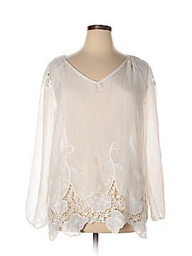 Adiva Long Sleeve Blouse Size 1X (Plus)