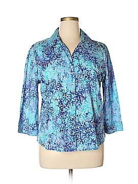 Krazy Kat 3/4 Sleeve Button-Down Shirt Size XL