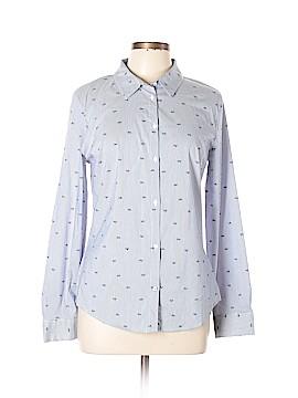 Zara Basic Long Sleeve Button-Down Shirt Size XL