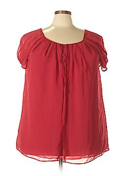 Lane Bryant Short Sleeve Blouse Size 22/24 (Plus)