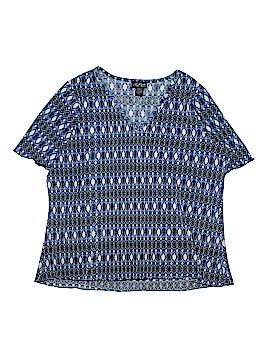 Russel Kemp New York Short Sleeve Blouse Size 2X (Plus)