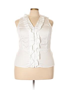 Jones New York Signature Sleeveless Blouse Size 2X (Plus)