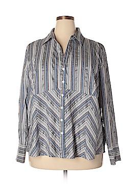 Fred David Long Sleeve Button-Down Shirt Size 26 - 28 (Plus)