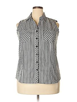 Joanna Sleeveless Button-Down Shirt Size 1X (Plus)