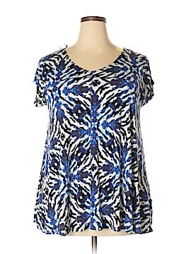 Cynthia Rowley for Marshalls Short Sleeve Top Size 1X (Plus)