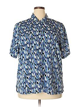Notations Short Sleeve Button-Down Shirt Size 2X (Plus)