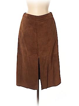 Banana Republic Leather Skirt Size 8