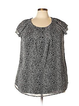 Como Short Sleeve Blouse Size 2X (Plus)