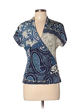ETRO Short Sleeve Silk Top Size 44 (IT)