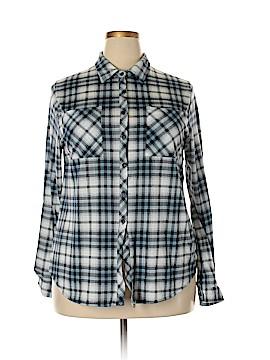 Eden & Olivia Long Sleeve Button-Down Shirt Size XL