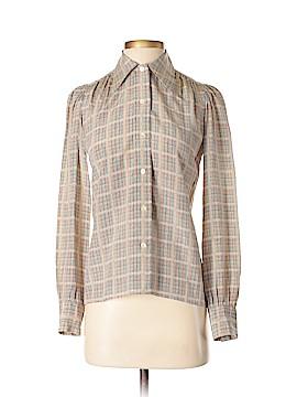 Saint Laurent Long Sleeve Silk Top Size 36 (FR)