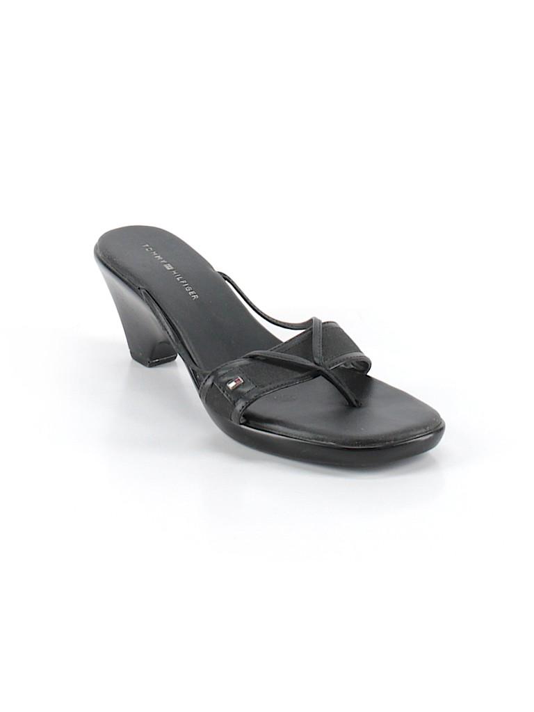 634b2edc2308b0 Tommy Hilfiger Solid Black Mule Clog Size 10 - 89% off