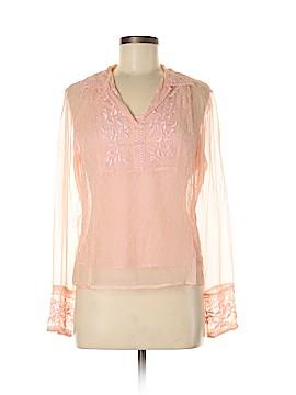 T.J. Maxx Long Sleeve Silk Top Size M