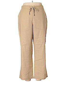 Jessica London Linen Pants Size 16 (Petite)
