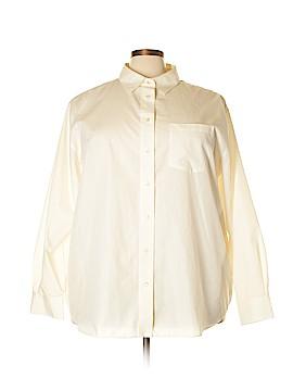 Foxcroft Long Sleeve Button-Down Shirt Size 24 (Plus)