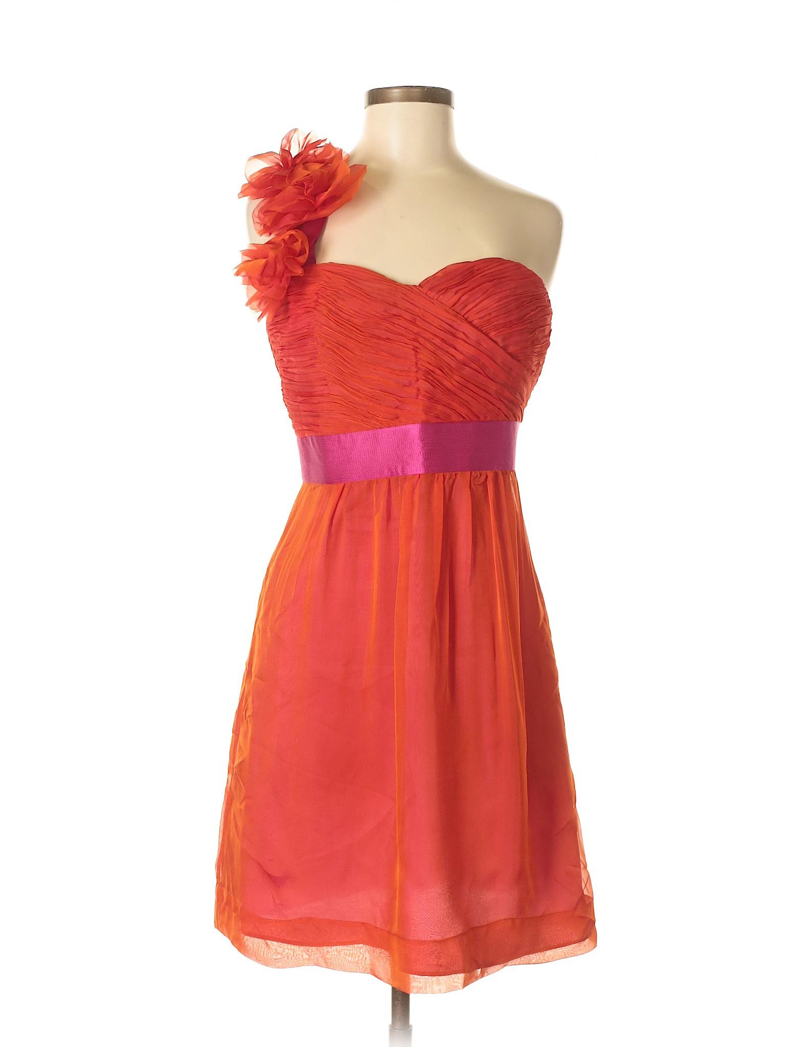 b2dd10b65aa Phoebe Couture Women Orange Cocktail Dress 8