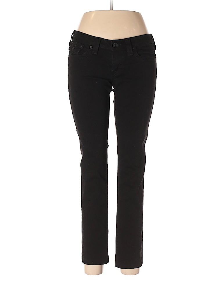 8af06a16562 True Religion Solid Black Jeans Size 30 (Plus) - 75% off