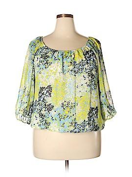Alex Marie 3/4 Sleeve Blouse Size 1X (Plus)