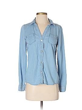 Maison Jules Long Sleeve Button-Down Shirt Size S