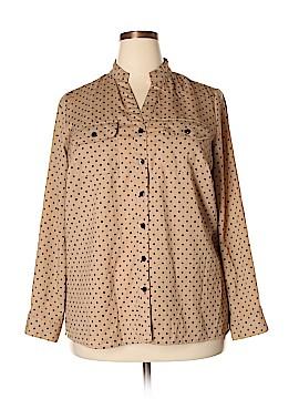 Elementz 3/4 Sleeve Blouse Size 1X (Plus)