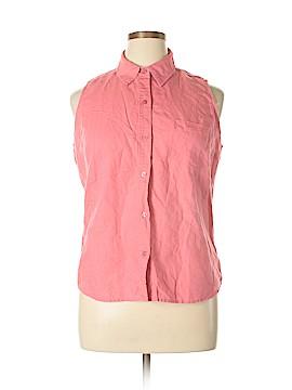 Joyce Sleeveless Button-Down Shirt Size XXL