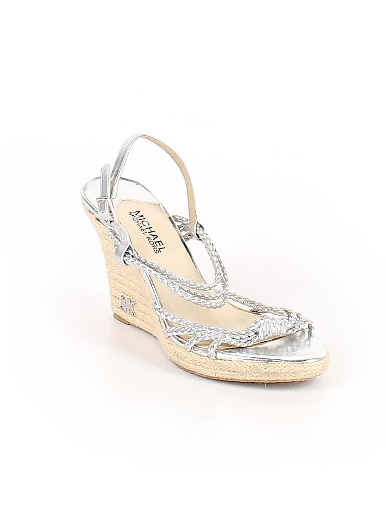 220d70f3c0c MICHAEL Michael Kors Metallic Silver Wedges Size 8 - 73% off