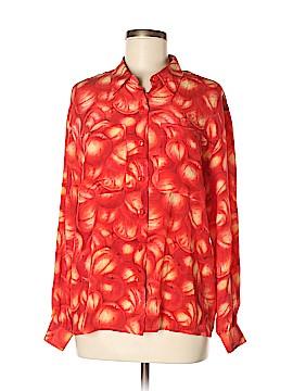 Liz Claiborne Collection Long Sleeve Silk Top Size 4X (Plus)