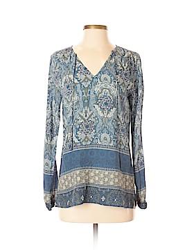 Ecru Long Sleeve Blouse Size XS