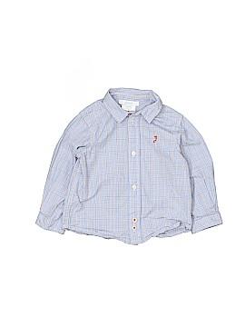 Jacadi Long Sleeve Button-Down Shirt Size 12 mo