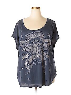 Rock & Republic Short Sleeve T-Shirt Size 3X (Plus)