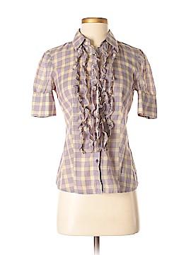 Moda International Short Sleeve Button-Down Shirt Size S