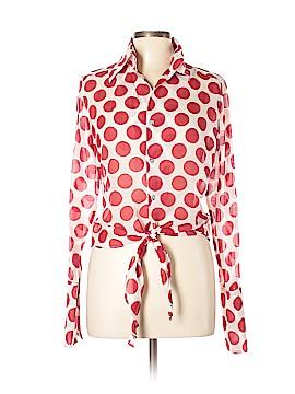 Farinaz Taghavi Long Sleeve Button-Down Shirt Size 10