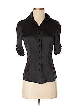 Bebe Short Sleeve Silk Top Size S