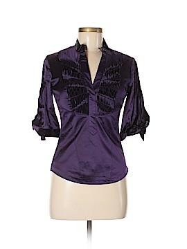 Karen Millen 3/4 Sleeve Silk Top Size Lg (4)
