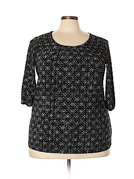 Daisy Fuentes 3/4 Sleeve Blouse Size 1X (Plus)
