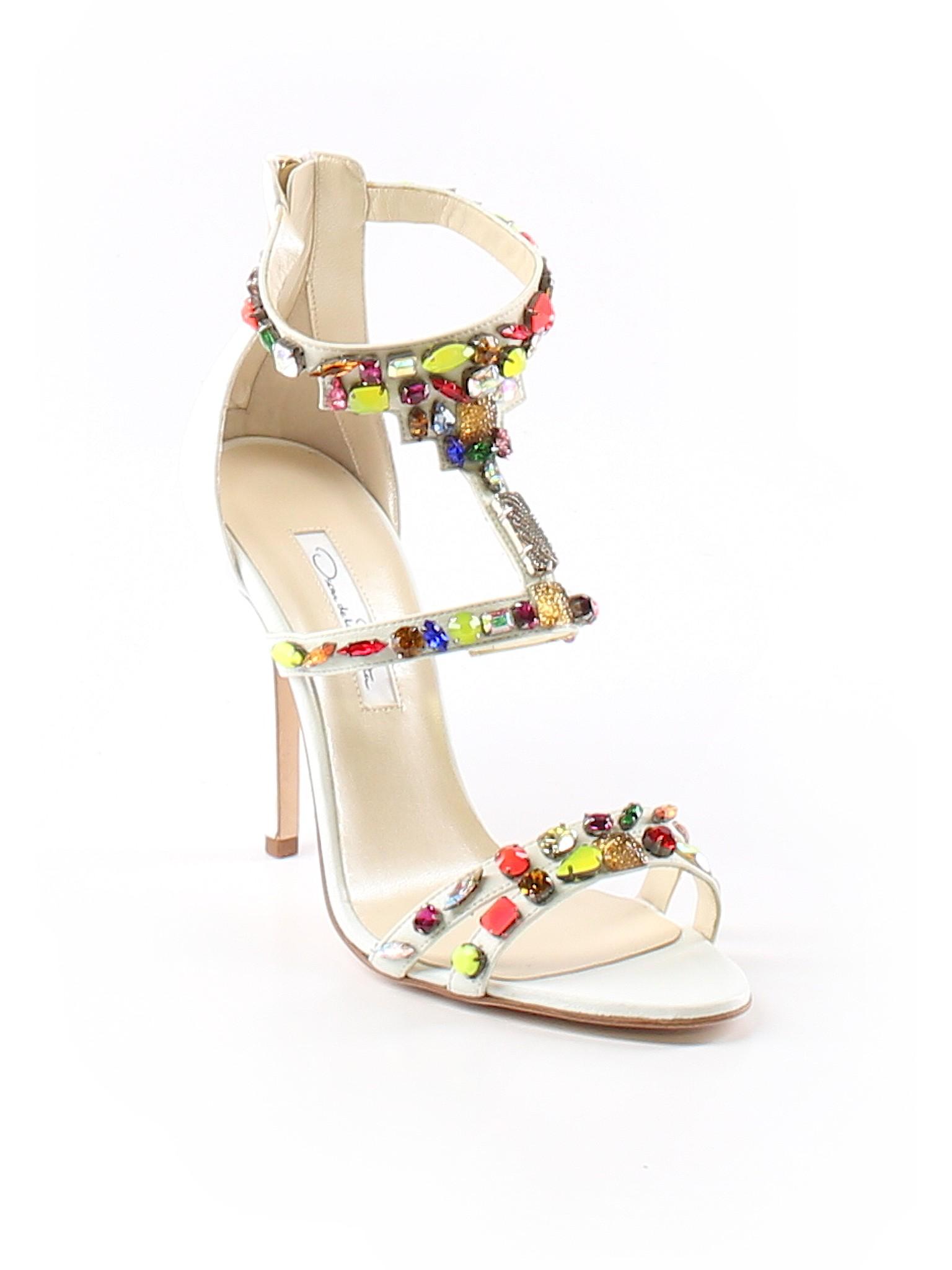 promotion heels Simona Oscar Nappa De Boutique La Ivory Renta 7Bdwxqp